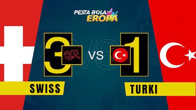 Berita video motion grafis, hasil pertandingan Swiss melawan Turki di Grup A Euro 2020, Minggu (20/6/2021).