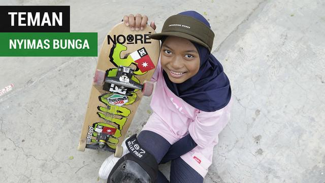 Berita video mengenal atlet skateboard, Nyimas Bunga Cinta, peraih medali Asian Games 2018 termuda asal Indonesia.