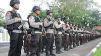 Polda Sulut menerjunkan satu SSK polisi ke wilayah perbatasan Filipina - Sulut jelang lebaran.(Www.sulawesita.com)