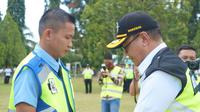 Selenggarakan latihan Penanggulangan Keadaan Darurat (PKD) ke-97, Bandara Internasional Sam Ratulangi pastikan operasional tidak terganggu. (Liputan6.com/Yoseph Ikanubun)