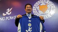 Vichai Raksriaksorn, CEO King Power Duty Free,Pengusaha Asal Thailand membeli klub Inggris Leicester City FC pada tahun 2010.  (AFP Photo / Christophe Archambault)