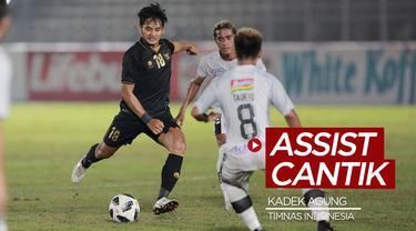Berita video melihat lagi assist cantik dari Kadek Agung Widnyana ketika Timnas Indonesia mengalahkan Bali United 3-1 dalam laga uji coba pada Minggu (7/3/2021) malam hari WIB.