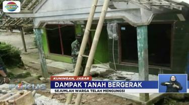 Pergerakan tanah di Banjarnegara, Jawa Tengah, membuat tujuh dari puluhan rumah hancur total.