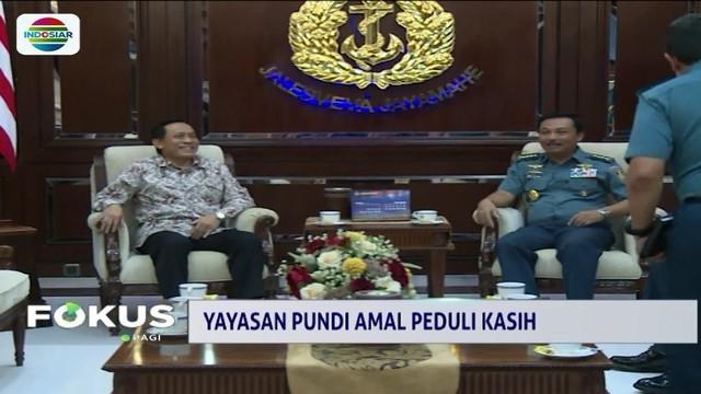 Kepala Staf Angkatan Laut, Laksamana Siwi Sukma Adji menerima kunjungan Yayasan Pundi Amal Peduli Kasih (YPAPK). TNI AL berharap kerja sama dengan YPAPK dapat terus berjalan.