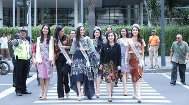 7 Puteri Indonesia 2019 akan megikuti uji coba MRT bersama Presiden Joko Widodo.
