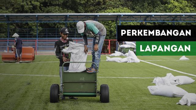 Berita video mengenai perkembangan pembangunan tempat latihan Persija Jakarta yang berada di Lapangan Aldiron, Pancoran.