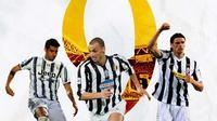 Juventus - Alvaro Morata, Zlatan Ibrahimovic, Vincenzo Iaquinta (Bola.com/Adreanus Titus)