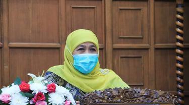 Gubernur Jatim  Khofifah Indar Parawansa. (Dian Kurniawan/Liputan6.com)