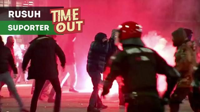 Berita video kerusuhan yang terjadi antara fans Athletic Bilbao dengan suporter Spartak Moscow sebelum laga Liga Europa. Dalam insiden tersebut seorang polisi tewas karena serangan jantung.