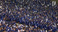 "Sejumlah kader saat menghadiri  Rapimnas Partai Demokrat di Bogor, Jawa Barat, Sabtu (10/3).  Rapimnas Partai Demokrat yang bertemakan ""Demokrat S14P!"", membahas persiapan pemilu partai demokrat di 2019. (Liputan6.com/Angga yuniar)"