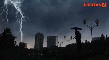 Banner Infografis Waspada Cuaca Ekstrem di Indonesia