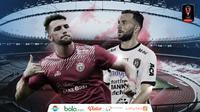 Duel Marko Simic Vs Ilija Spasojevic di final Piala Presiden 2018. (Bola.com/Dody Iryawan)