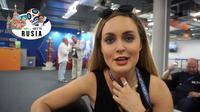 Kelly Somers, jurnalis asal Australia. (Bola.com/Okie Prabhowo)