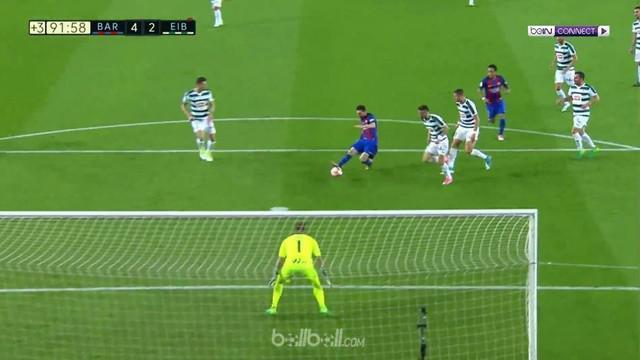 Tertinggal dua gol lebih dulu, Barcelona akhirnya bangkit dan sukses meraih kemenangan 4-2 atas Eibar.