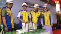Kementerian PUPR melalui Direktorat Jenderal Penyediaan Perumahan membangun Rusunawa untuk Pasukan Pengamanan Presiden (Paspampres) di Jalan Tanah Abang II, Jakarta.