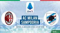Serie A: AC Milan vs Sampdoria. (Bola.com/Dody Iryawan)