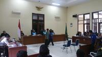 Sidang gugatan reklamasi Teluk Jakarta untuk Pulau F, I dan K di Pengadilan Tata Usaha Negara (PTUN) Jakarta (Liputan6.com/Nanda Perdana Putra)