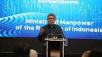 Sekretaris Jenderal Kemnaker, Khairul Anwar di Jakarta, hari Jumat (29/11).
