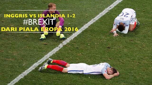 Islandia sukses mengirim Inggris ke kampung halaman setelah mengalahkan dengan skor 2-1 di Allianz Arena, Nice pada Senin (27/6/2016).