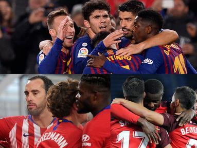 Barcelona semakin memperlihatkan dominasinya di kompetisi La Liga Spanyol (21/1). Raihan tersebut diperoleh usai anak asuh Valverde tersebut mengalahkan Leganes 3-1.  (Kolase Foto AFP)