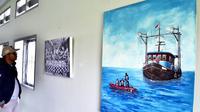 9 Seniman Bengkulu melakukan gelar karya bersama di Taman Budaya untuk membangkitkan dunia seni rupa yang lama terdiam (Liputan6.com/Yuliardi Hardjo)