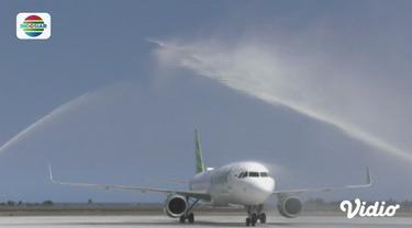 Citilink daratkan pesawat untuk pertama kali di Bandara Internasional Yogyakarta.