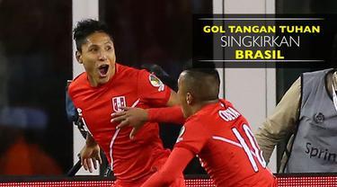 Brasil pulang lebih cepat akibat gol kontroversial Raul Ruidiaz, striker Peru pada menit ke-75.