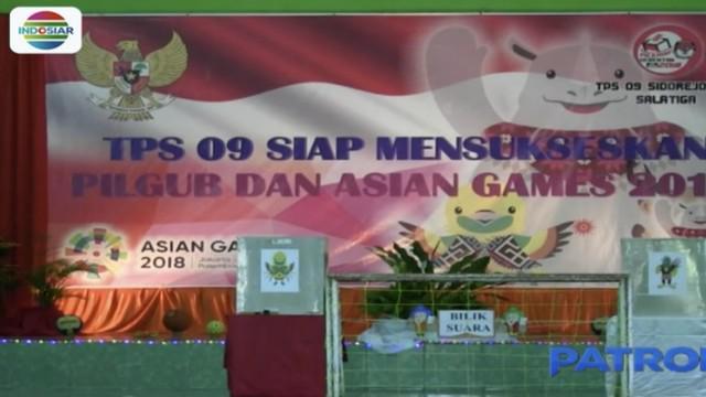 Mengambil tema Asian Games selain untuk memikat warga mengunakan hak pilih juga untuk mempromosikan Asian Games 2018.