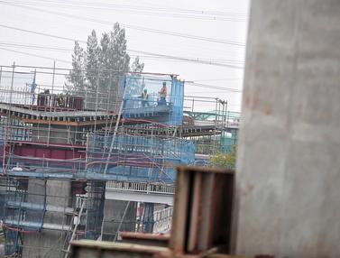 Progres Pembangunan Stasiun LRT Cawang