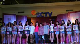 Setelah beradu kemampuan, akhirnya terpilih 10 nama finalis Miss Celebrity (Micel) Indonesia 2014 yang mewakili kota Manado, Minggu (7/9/2014) (Liputan6.com/Faisal R Syam)