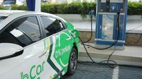 PT PLN (Persero) Unit Induk Distribusi Banten, menambah satu unit charging station Stasiun Pengisian Kendaraan Listrik Umum (SPKLU) di Wilayah Tangerang. (Dok PLN)