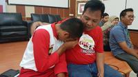 Akram yang merupakan Paskibraka 2017 dari Maluku itu, tak pernah lupa atas jasa-jasa para pembina. (Liputan6.com/Aditya Eka Prawira)