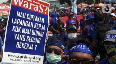 Elemen Buruh Tolak RUU Omnibus Law