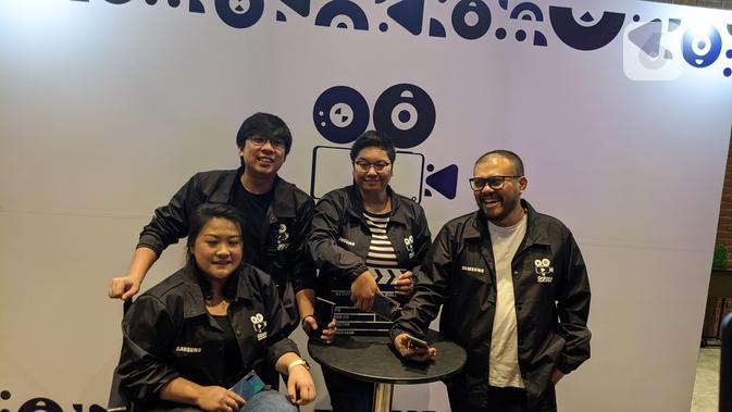 Samsung gandeng tiga sutradara kenamaa di Indonesia untuk peluncuran platform Galaxy Movie Studi. (Liputan6.com/ Yuslianson)