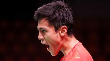 Indonesia harus melewati perjuangan ekstra usai sukses mengalahkan Thailand dengan skor 3-2 pada pertandingan kedua Grup A Piala Thomas 2020 di Ceres Arena, Aarhus, Denmark, Senin (11/10/2021). (Badminton Photo/Yves Lacroix)