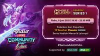 Live Streaming Vidio Community Cup Ladies Season 1 : Mobile Legends Series 1. (Sumber : dok. vidio.com)