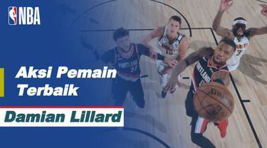 Berita Video Aksi Damian Lillard Saat Bawa Portland Trail Blazer Kalahkan Denver Nuggets di NBA