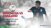 Kualifikasi Piala Dunia 2022 - Indonesia Vs Thailand - Chanathip Songkrasin (Bola.com/Adreanus Titus)
