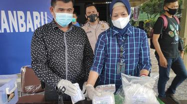Barang bukti narkoba jenis sabu sitaan Polresta Pekanbaru.