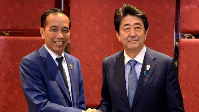 Presiden Jokowi dan Perdana Menteri (PM) Jepang Shinzo Abe