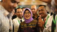 Menteri Kesehatan (Menkes) Nila F Moeloek di Asrama Haji Pondok Gede. Dok MCH/Bahauddin Raja Baso