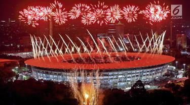 Wow, Pesta Kembang Api Menakjubkan Semarakkan Pembukaan Asian Games 2018