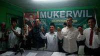 Calon gubernur DKI Jakarta 2017 berkumpul di PKB ((Liputan6.com/ Taufiqurrohman)