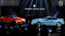 Penampakan all new BMW Seri 8 Coupe saat peluncuran di Jakarta, Jumat (17/5/2019). BMW Seri 8 Coupe dapat melesat dari 0 sampai 100 kilometer per jam hanya dalam 3,7 detik. (Liputan6.com/HO/Dani)