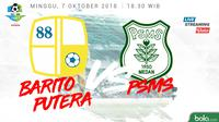 Jadwal Liga 1 2018 pekan ke-24, Barito Putera vs PSMS Medan. (Bola.com/Dody Iryawan)