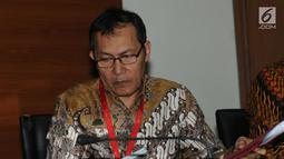 Wakil Pimpinan KPK, Saut Situmorang memberi keteragan terkait vonis bebas mantan Ketua BPPN Syafruddin Arsyad Tumenggung di Gedung KPK, Jakarta, Selasa (9/7/2019). KPK akan tetap melanjutan proses terkait kasus dugaan korupsi SKL BLBI yang merugikan negara 4,58 miliar. (merdeka.com/Dwi Narwoko)