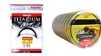 Senar pancing Maguro berbahan titanium, kuat tapi tidak transparan sehingga mudah terlihat oleh ikan di air.
