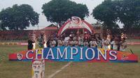 Persiga Trenggalek juara Liga 3 Asprov PSSI Jawa Timur. (Bola.com/Zaidan Nazarul)