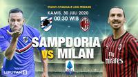 Banner Sampdoria kontra AC Milan. (Triyasni)