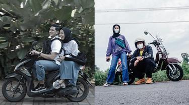 Romantis, 6 Momen Pasangan Seleb Boncengan Naik Sepeda Motor Ini Bikin Baper